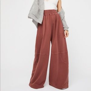 Free People Beach What's Up Wide Leg Pants Pink